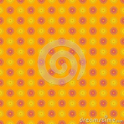 Bezszwowy szczęśliwy i kolorowy kwiecisty wzór