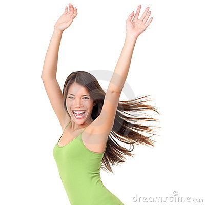 Beztroska odosobniona radosna kobieta