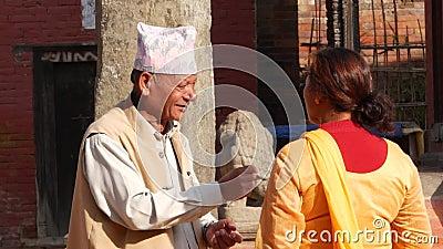 BHAKTAPUR, KATHMANDU, NEPAL - 18 October 2018 Asian Man ...