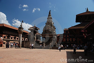 Bhaktapur square -  Nepal Editorial Stock Photo