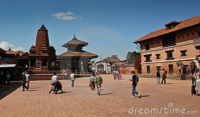 Bhaktapur square -  Nepal Editorial Photo