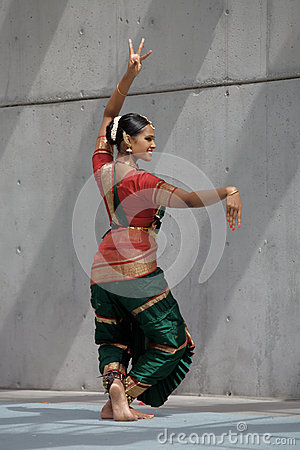 Bharata Natyam Dancer Editorial Stock Image