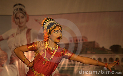 Bharatnatyam - The classical Indian dance Editorial Stock Image