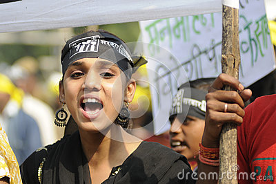 Bhopal agitation. Editorial Image