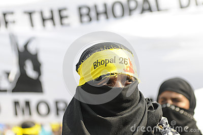 Bhopal agitation. Editorial Stock Photo