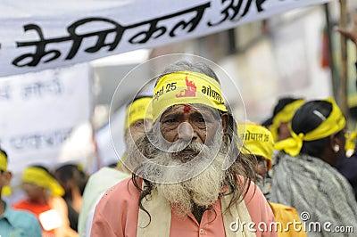 Bhopal agitation. Editorial Stock Photo