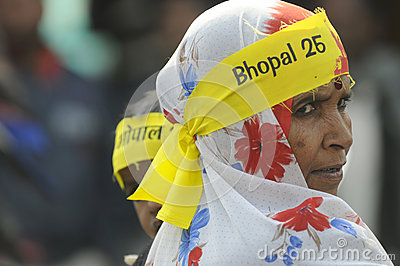 Bhopal agitation. Editorial Photo