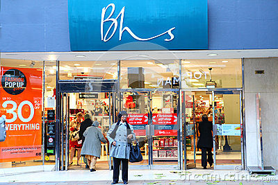 BHS British Home Stores store front Editorial Stock Image