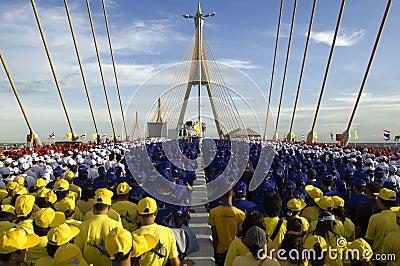 Bhumibol Bridge 1 Editorial Stock Photo