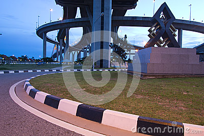 Bhumibol Bridge of Thailand