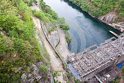The Bhumibol Dam in thailand.