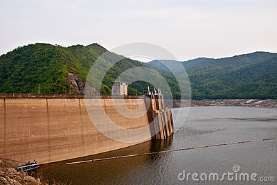 The Bhumibol Dam in Thailand.