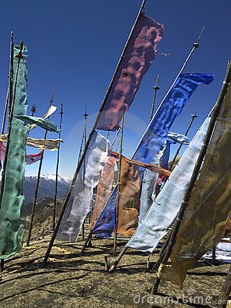 Bhutan - Buddhist Prayer Flags