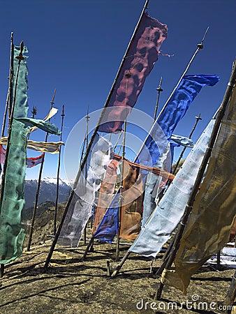 Bhutan - Buddhist Prayer Flags