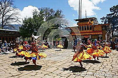 Bhutan masked festival Editorial Photography