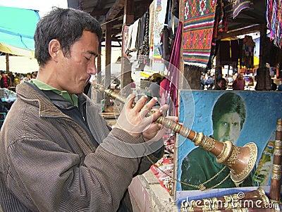 Bhutanese man - Paro - Bhutan Editorial Stock Image