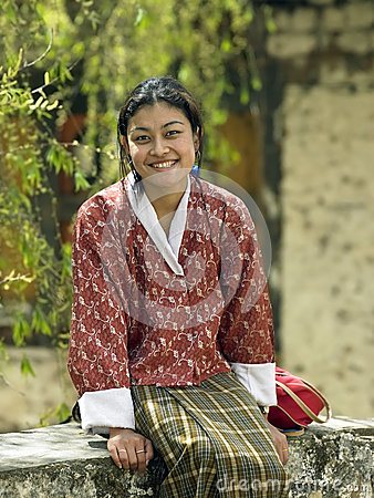 Bhutanese Woman - Paro - Kingdom of Bhutan Editorial Photography