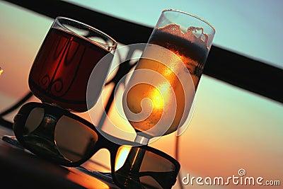 Bière et vin