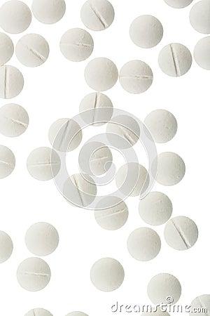 Białe pastylki