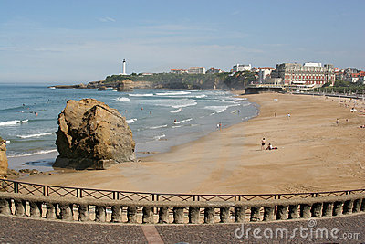 Biarritz beach in low season