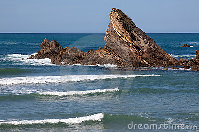 Biarritz beach waves