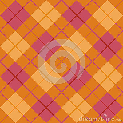 Bias Plaid in Orange and Pink