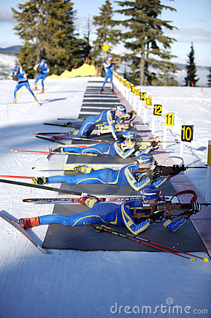 Biathlon Editorial Photo