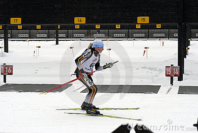 Biathlon  Editorial Stock Image