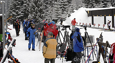 Biathlon people Editorial Stock Photo