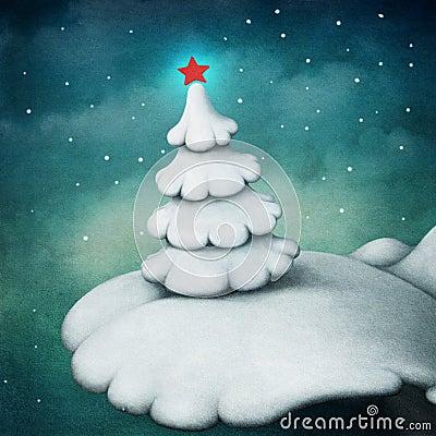 Biały drzewo