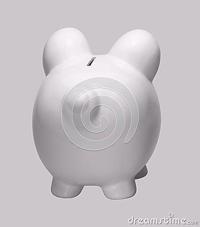 Biały porcelany piggybank