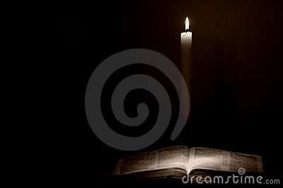 Bible & Candle