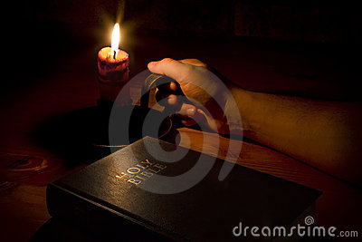 The bible by candle light