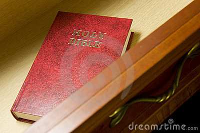 Bible in drawer