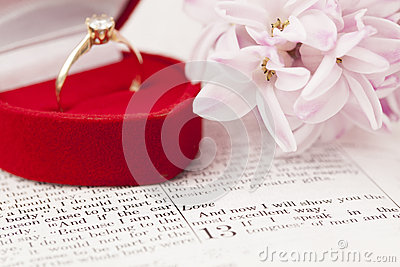 Bible And Engagement Ring Royalty Free Stock Images - Image: 28609039