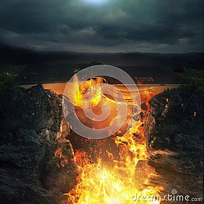 Clipart Fire And Brimstone