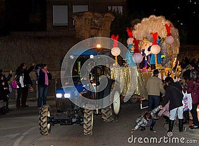 Biblical Magi King Parade Editorial Image