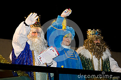 Biblical Magi parade in Spain Editorial Stock Photo