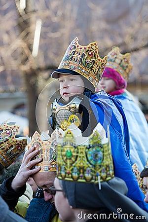 Biblical Magi Three Wise Men parade Editorial Stock Photo