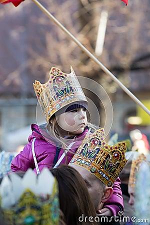 Biblical Magi Three Wise Men parade Editorial Stock Image