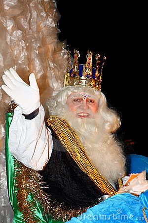 Biblical Magi white king Editorial Photo
