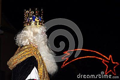 Biblical Magi white king Editorial Photography
