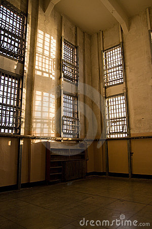Biblioteca abandonada en Alcatraz