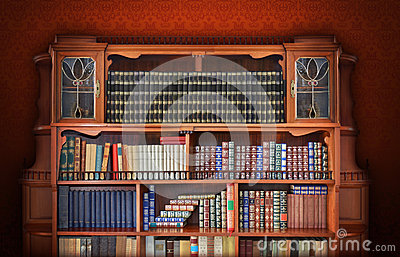 biblioth que classique meubles antiques photo stock image 39498639. Black Bedroom Furniture Sets. Home Design Ideas
