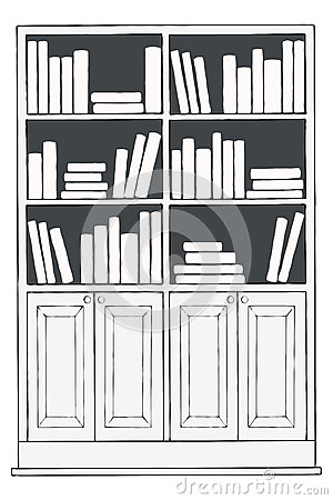 Biblioth que ou tag re illustration stock image 66170223 - Etagere huis van de wereld ...