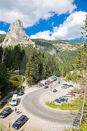 Bicaz Canyon Editorial Stock Photo