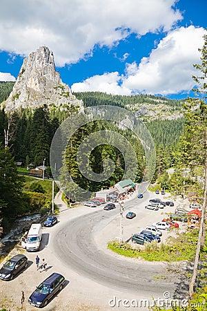 Bicaz Canyon Editorial Stock Photo