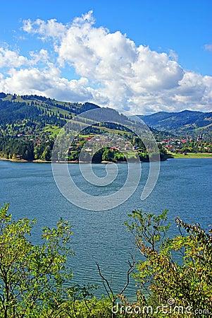 Bicaz dam: mountain spring lake