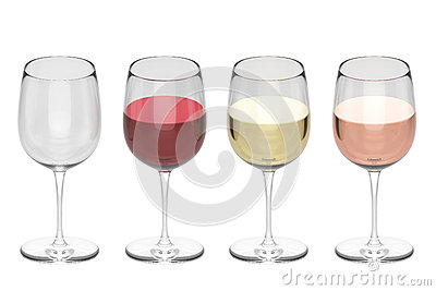 Bicchieri di vino - insieme
