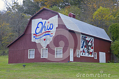 Bicentennial barn Editorial Stock Image